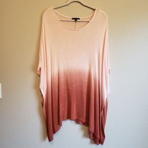 Lane Bryant Ombre Dip Die Cape Style Knit Blouse